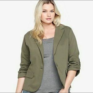 TORRID Ruched Sleeve Blazer Jacket